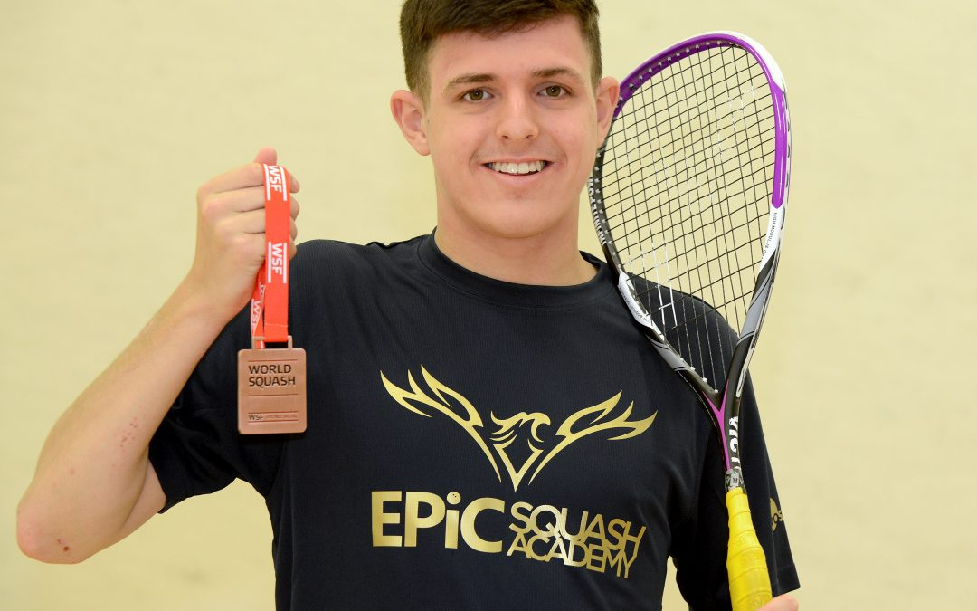 BIRMINGHAM'S LEWIS ANDERSON WINS BRONZE MEDAL ON DEBUT AT WORLD JUNIOR SQUASH CHAMPIONSHIPS